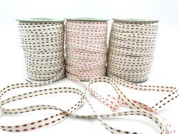 "3/8"" double stitched cotton ribbons"