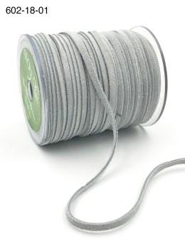 white 100% leather string suede cord