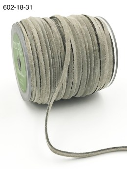 light gray silver 100% leather string suede cord