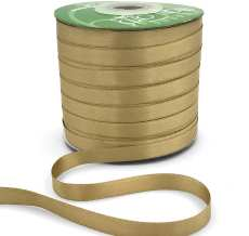 champagne double face satin ribbon
