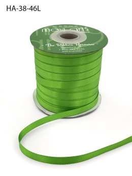 parrot green apple green double face satin ribbon
