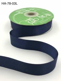 navy blue double face satin ribbon