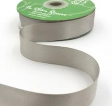 silvery gray double face satin ribbon