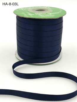 navy blue double face satin ribbon