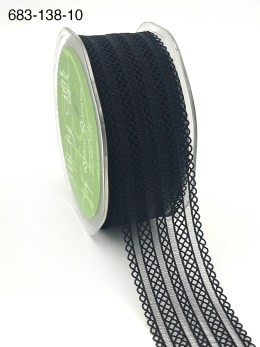 black batiste lace elastic ribbon