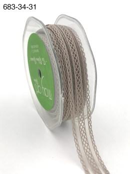 gray batiste elastic lace ribbon