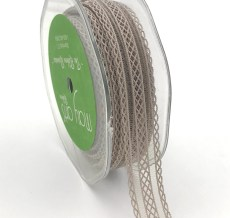 gray batiste elastic lace ribbon