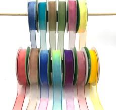 "3/4"" ombre tie dye organza ribbons"