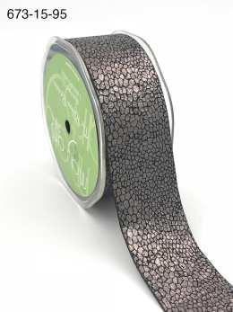 charcoal gray metallic snake skin ribbon