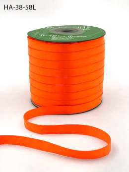 neon orange double face satin ribbon