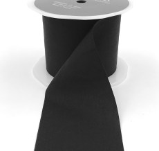 black faux silk wrinkled nylon ribbon