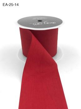 red faux silk wrinkled nylon ribbon