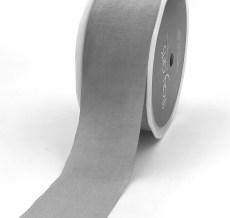 gray faux silk nylon ribbon