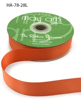 orange double face satin ribbon