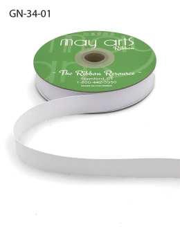 white grosgrain ribbon