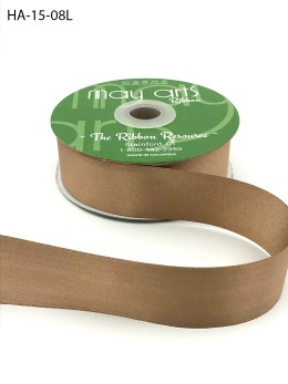 taupe brwon double face satin ribbon