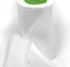 White Silk Chiffon Frayed Edge Ribbon