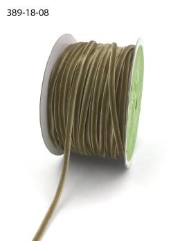 taupe brown thin velvet string ribbon