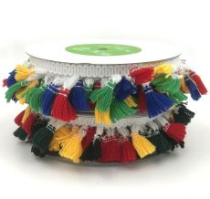 multicolor tassle fringe trim embellishment