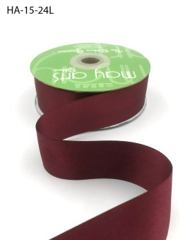 burgundy wine double face satin ribbon