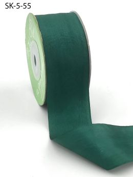 Rainforest Green Hand Dyed Silk Ribbon