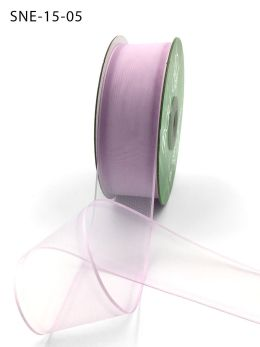 lavender thin edge organza ribbon