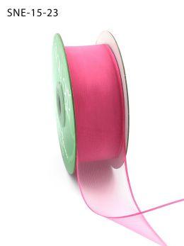 hot pink thin edge organza ribbon