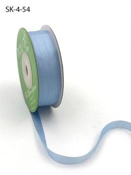 Cerulean Blue Hand Dyed Silk Ribbon