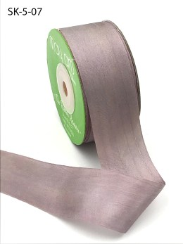 Sphinx Gray Purple Hand Dyed Silk Ribbon
