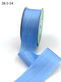 Cerulean blue Hand Dyed Silk Ribbon