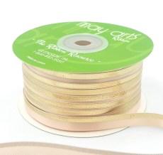 nude gold foil satin invitation ribbon
