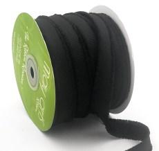 black fuzzy grosgrain ribbon