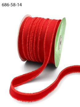 red fuzzy grosgrain ribbon
