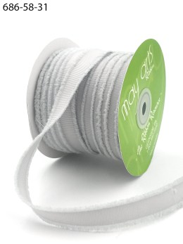 gray fuzzy grosgrain ribbon