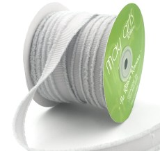 gray fuzzy grosgrain ribbon