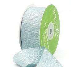 Blue Metallic Tweed Ribbon