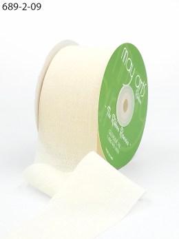 ivory crinkle chiffon wedding ribbon