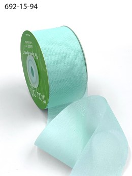 robin's egg blue iridescent organza ribbon