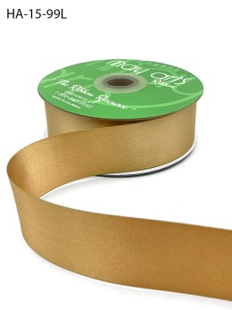 gold double face satin ribbon