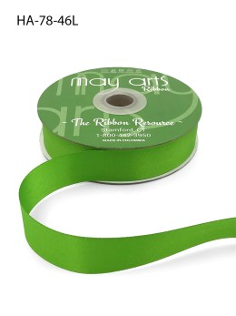parrot green double faced satin ribbon