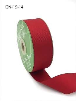 1.5 Inch Light-Weight Flat Grosgrain Ribbon with Woven Edge - GN-15-14 RED