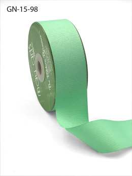 1.5 Inch Light-Weight Flat Grosgrain Ribbon with Woven Edge - GN-15-98 Mint