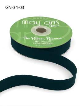 ~3/4 Inch Light-Weight Flat Grosgrain Ribbon with Woven Edge - GN-34-03 Navy