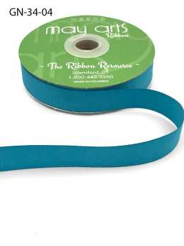 ~3/4 Inch Light-Weight Flat Grosgrain Ribbon with Woven Edge - GN-34-04 Teal