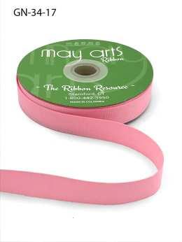 ~3/4 Inch Light-Weight Flat Grosgrain Ribbon with Woven Edge - GN-34-17 Light Pink