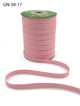 ~3/8 Inch Light-Weight Flat Grosgrain Ribbon with Woven Edge - GN-38-17 Light Pink
