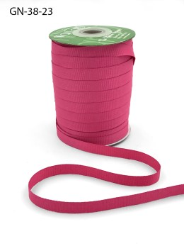 ~3/8 Inch Light-Weight Flat Grosgrain Ribbon with Woven Edge - GN-38-23 Light Fuchsia