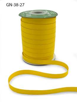 ~3/8 Inch Light-Weight Flat Grosgrain Ribbon with Woven Edge - GN-38-27 Yellow