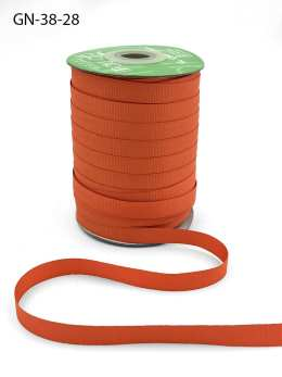 ~3/8 Inch Light-Weight Flat Grosgrain Ribbon with Woven Edge - GN-38-28 Orange