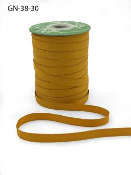 ~3/8 Inch Light-Weight Flat Grosgrain Ribbon with Woven Edge - GN-38-30 Gold